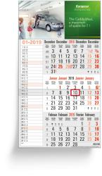 3 Months calendars - 3 Months Memo grey