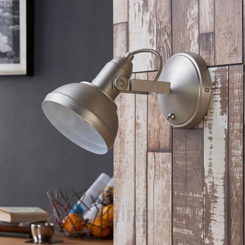 Spot LED attrayant Tameo, nickel mat - Spots et projecteurs LED