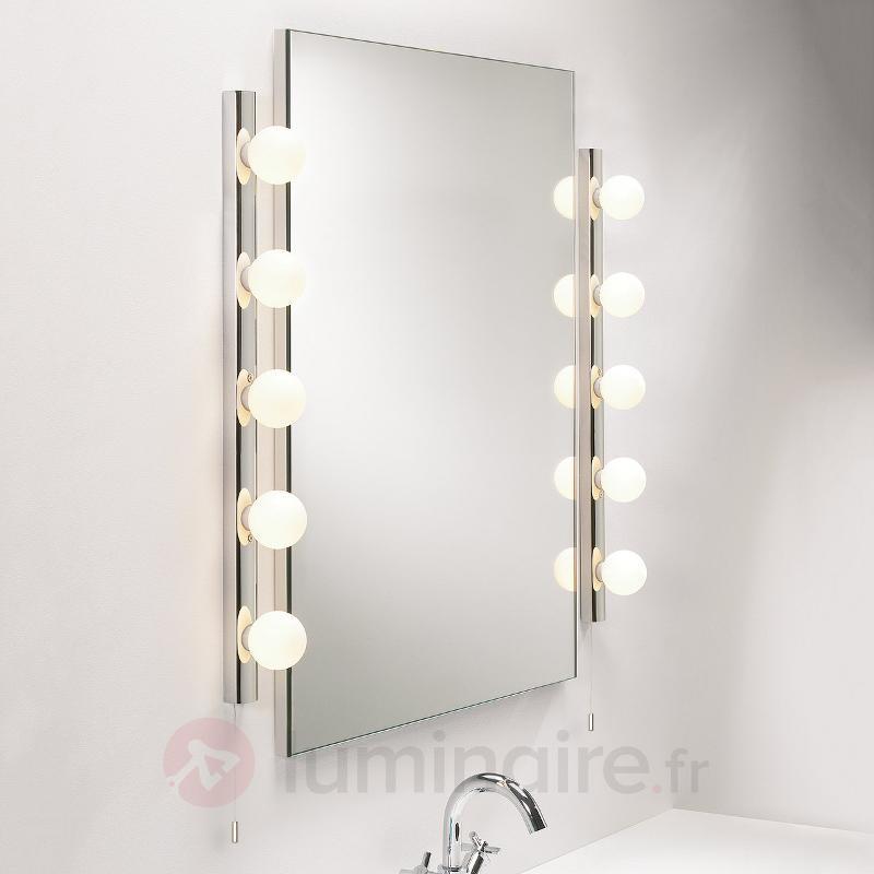 Applique pour miroir classique Cabaret 5 - Appliques chromées/nickel/inox