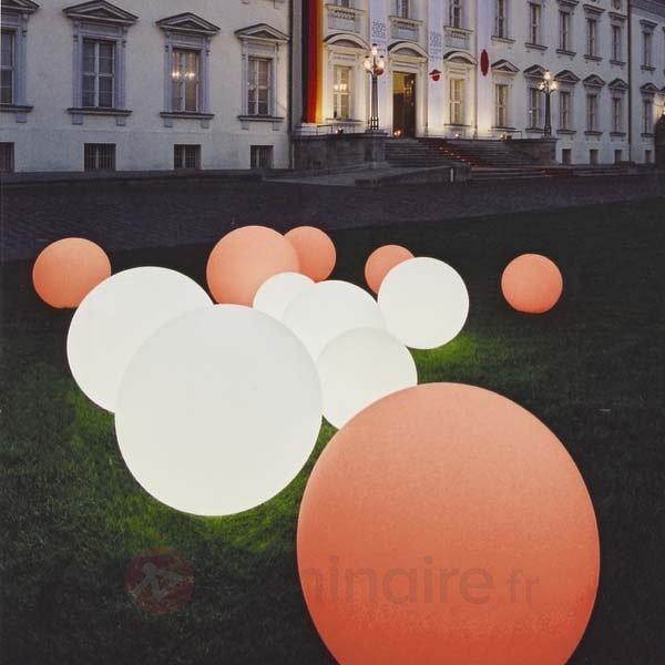 Boule lumineuse Snowball déplaçable blanche - Lampes décoratives d'extérieur
