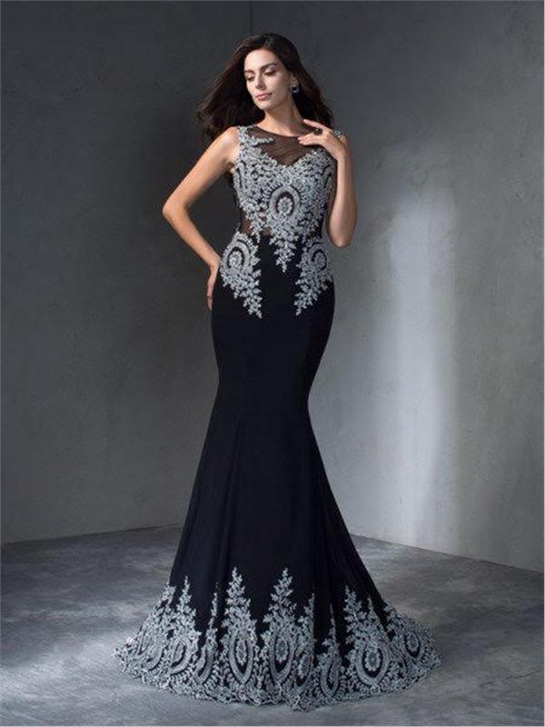 Long Chiffon Evening Dress - Long Eveningdress