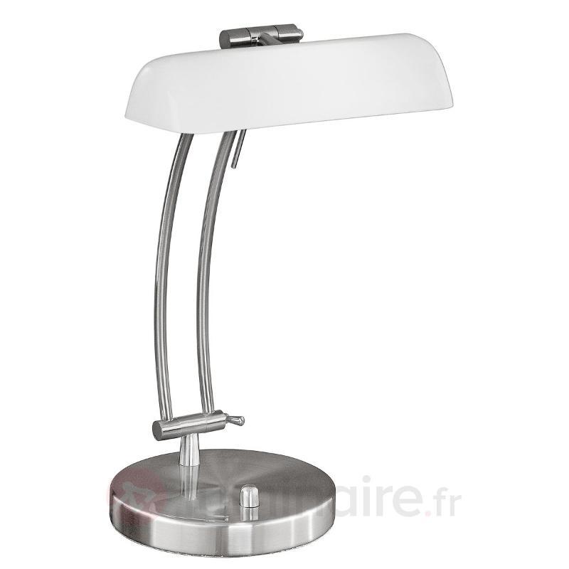 Lampe à poser efficace Bastian, opale - Lampes de bureau