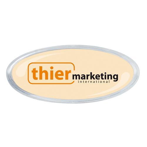 Buttons zum Anstecken für Foto- und Werbeeinlagen - Modell Oval