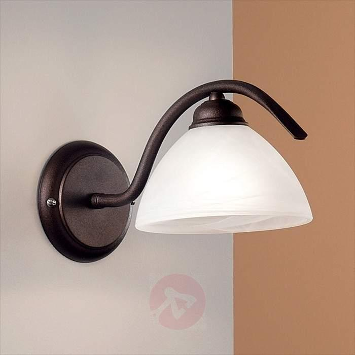 Jana Wall Light Alabaster Glass - Wall Lights