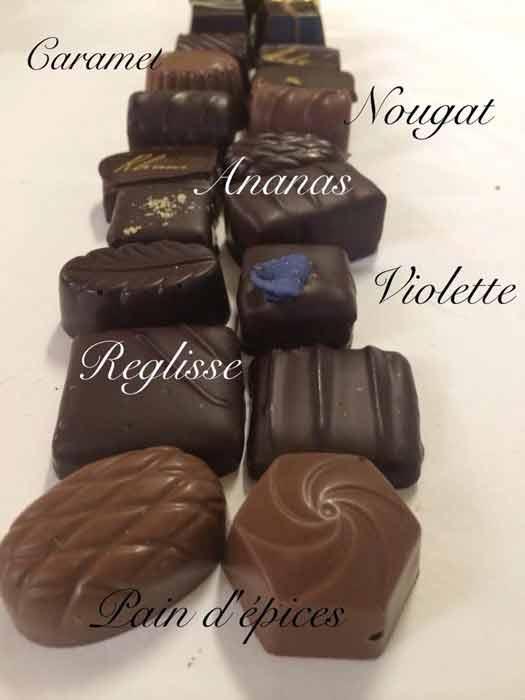 Chocolats fourrés  - artisanaux Val de Marne
