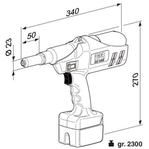 EB 400 - Rivettatrice a batteria per rivetti a strappo - Rivettatrici per rivetti