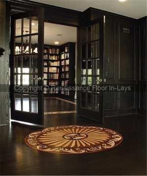 Wood floor inlays - Medallion