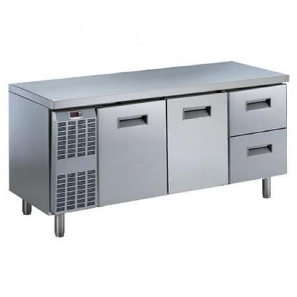 MEUBLES RÉFRIGÉRÉS ET SALADETTES - Table réfrigérée Benefit-Line 2 portes + 2x1/2 tiroirs -2°C/