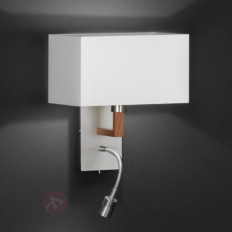 Applique textile Casta blanche avec liseuse - Appliques LED
