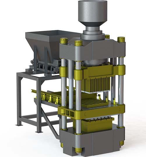 Оборудование для производства силикатного кирпича TITAN 900F - Прессы для производства силикатного кирпича и блоков Titan.