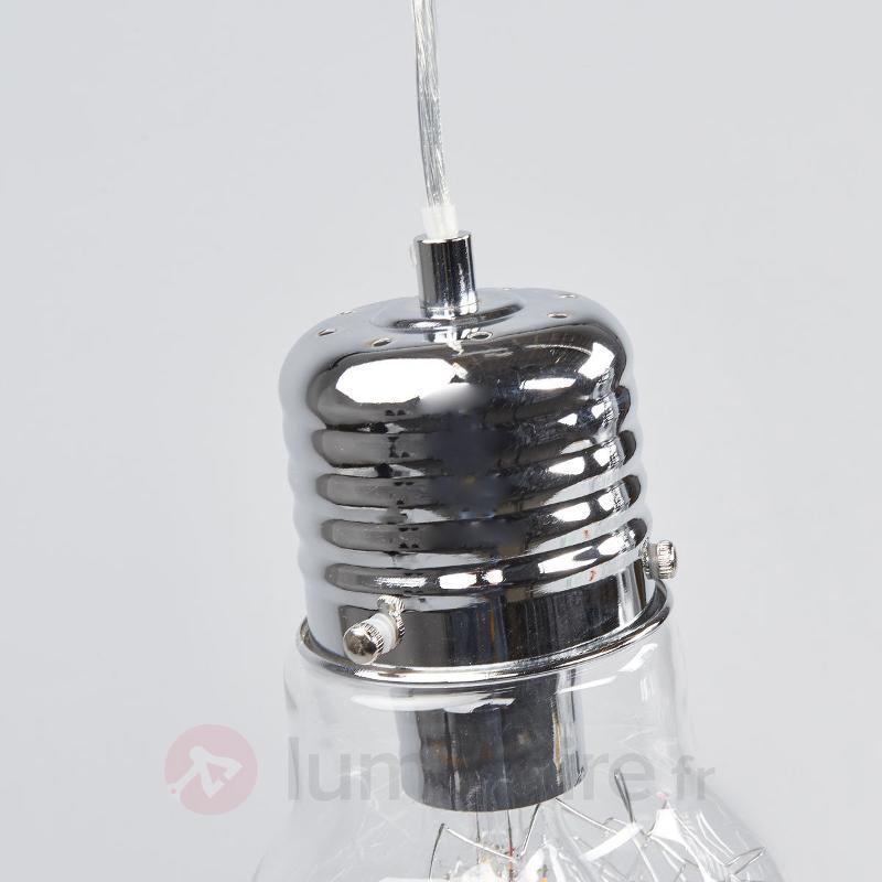 Suspension de salle à manger Rubi, à 3 lampes - Suspensions en verre