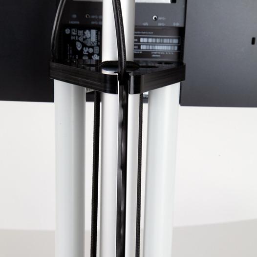 Height-adjustable monitor floor stand -
