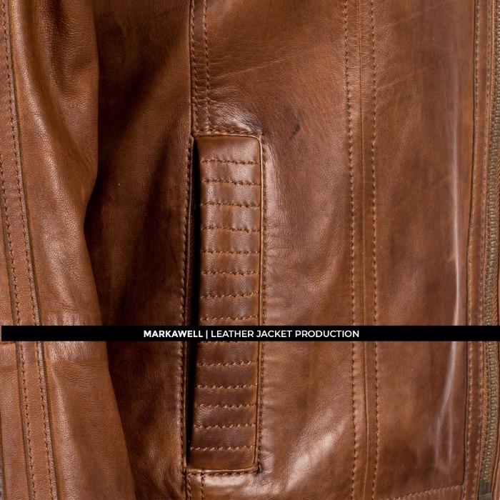 MW WOMAN HOODED LEATHER JACKET - MWL10009M-1