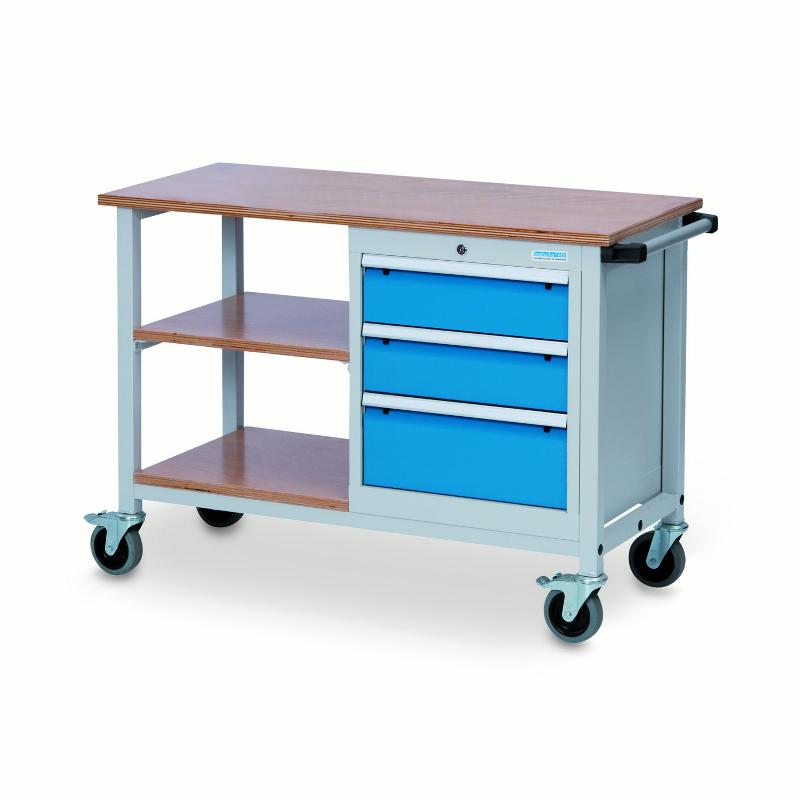 Mobile workbench T500 with shelves and drawers - 04.512.03A