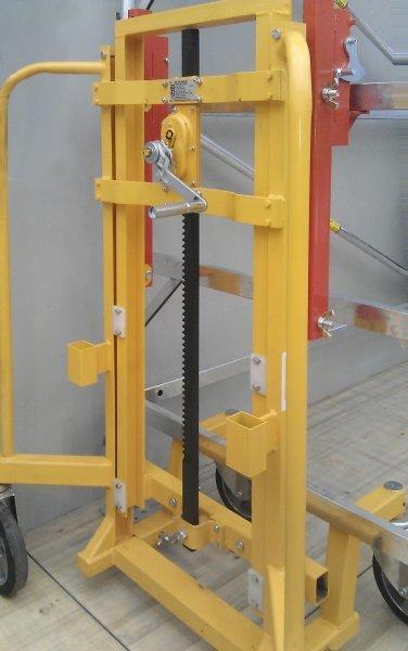 Torno con cremallera 1,5 - 5 t 1659 - Elevador de cremallera con correas de fijación Rango de carga 1,5 - 5 t