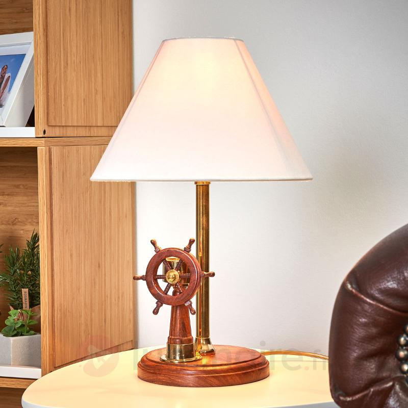 Remarquable lampe à poser STEERING en bois - Lampes à poser en bois