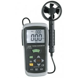 Thermo-aménomètre - Thermo-aménomètre avec en plus le calcul du débit d'air.