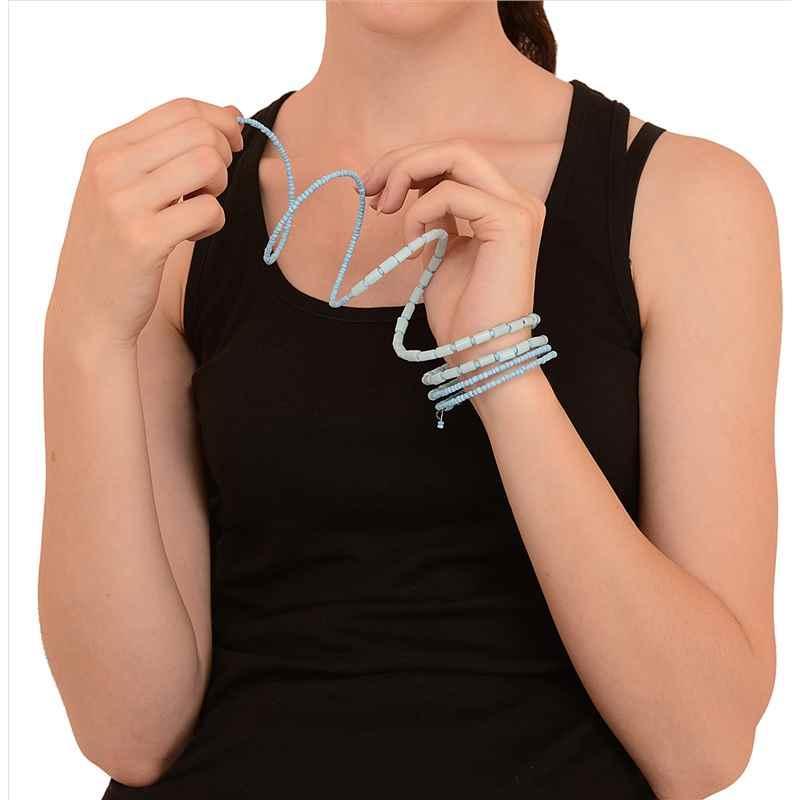 JAB-1 - Zephyrr Fashion Beaded Spiral Hand Bracelet Bangle Free size
