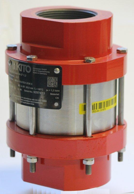 Pare-flammes de détonation, KITO RG-Det4-IIA-... - Protège récipients/composants contre détonation stable liquides/gaz inflammables