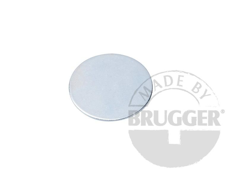 Metal disc with double adhesive tape (3M Scotch-Mount 4032) - null