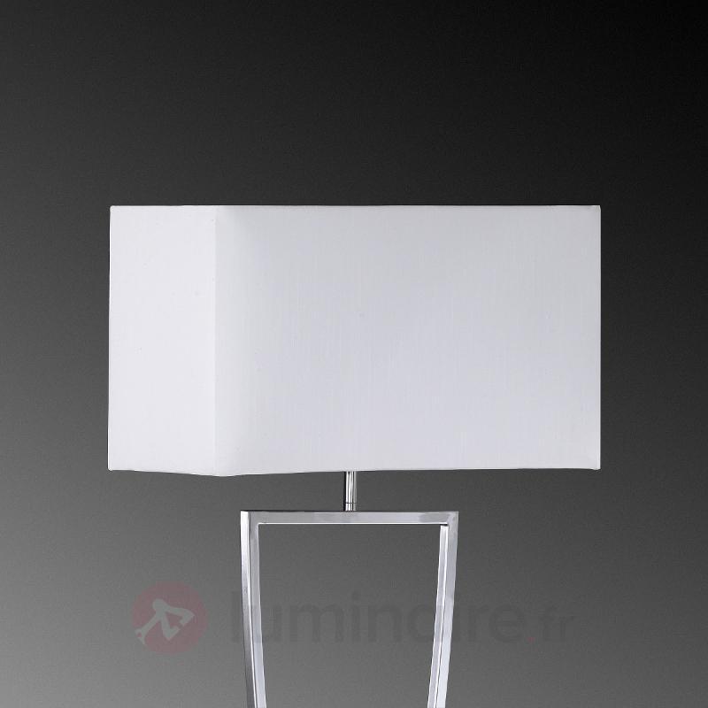 Lampadaire textile Anni chromé-blanc - Lampadaires en tissu