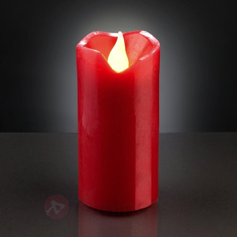 Bougie en cire LED rouge de 5 cm x 9,5cm - Bougies LED