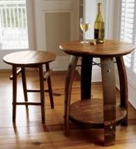 Wine Barrel Drinks Table - null