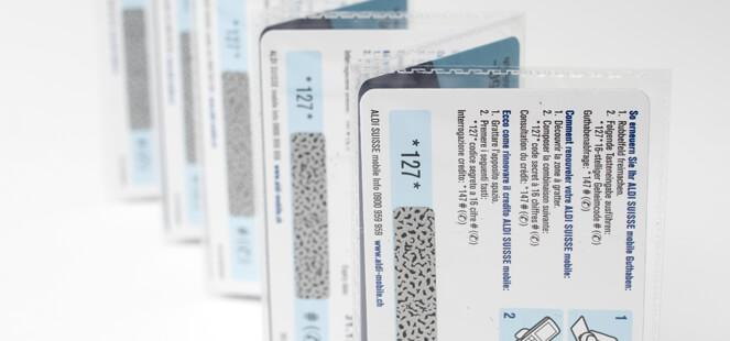 Prepaid Phone cards - Print of Phone cards on thin plastic or paper