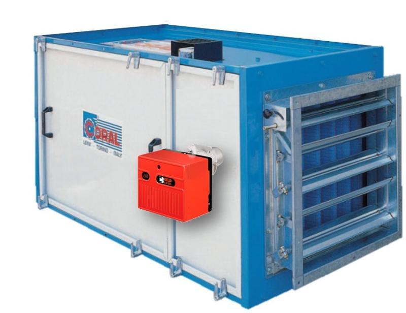 CTA soufflante avec batterie type gaz - Centrale de traitement de l'air