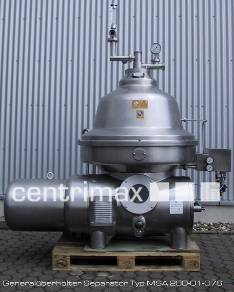 GEA Westfalia Separator Self-cleaning disc centrifuge - MSA 200-01-076