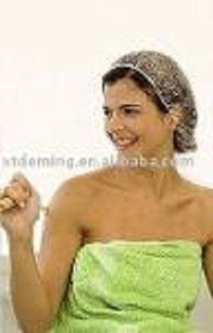 Desechable PE impermeable transparente tapa de la ducha - Tapa no tejida