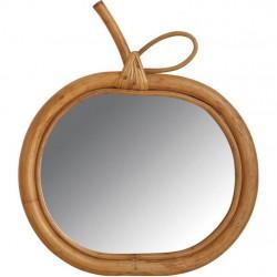 Miroir en rotin pomme - Déco