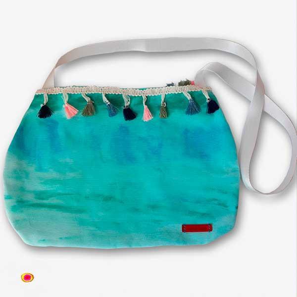 Bolso tintado a mano-Especial - confeccionado en telas de algodón tintadas al natural y secadas al aire libre