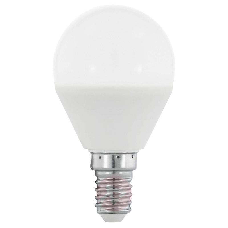 E14 4W 830 LED golf ball bulb matt, RGB - light-bulbs