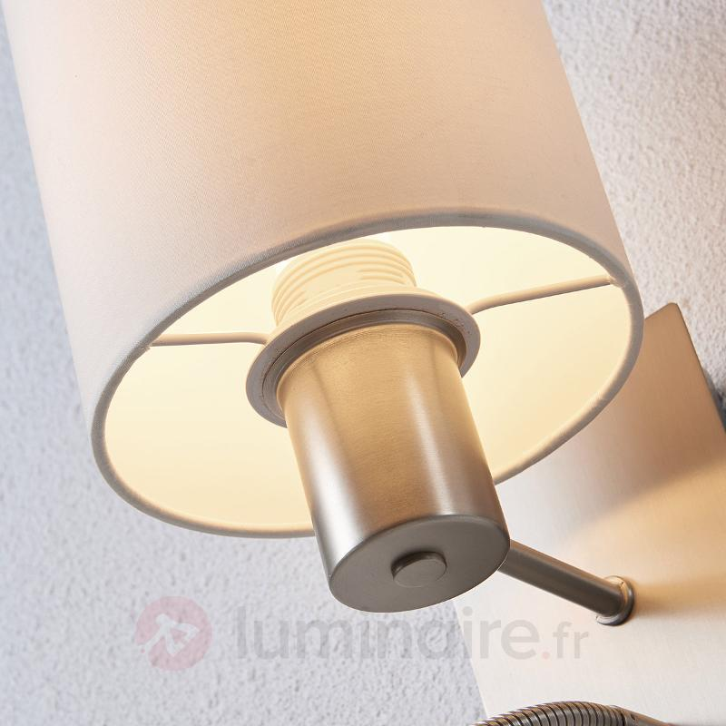 Applique en tissu Shajan avec liseuse LED - Appliques en tissu
