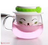 OFFICE CUP WITH CERAMIC FILTER AND CERAMIC LID  - 300ml