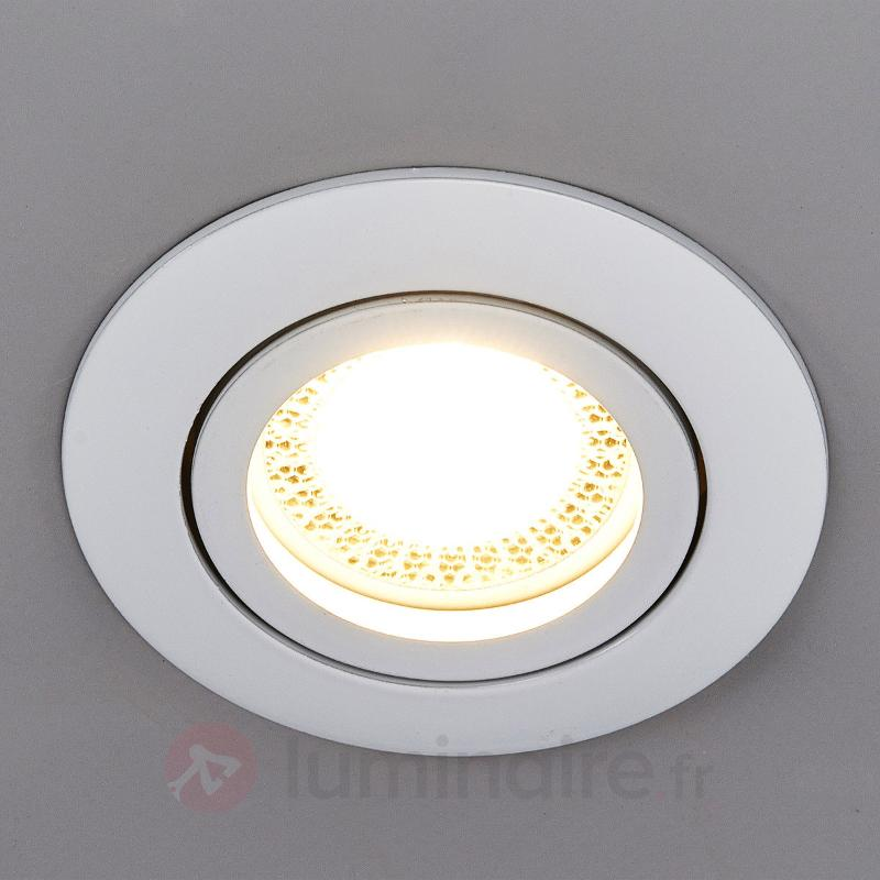 Spot encastré LED Lisara rond blanc - Spots encastrés LED