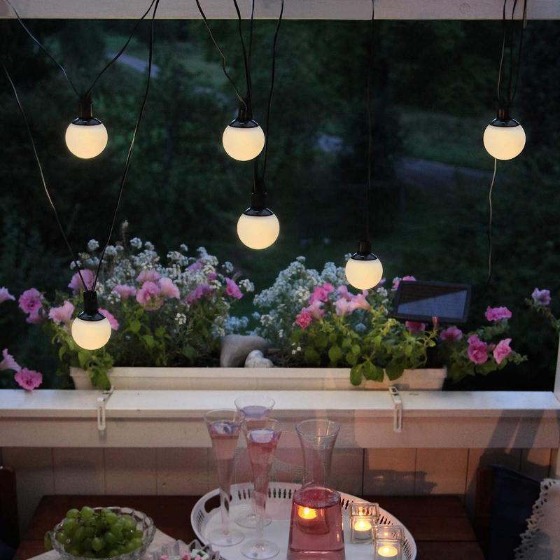 LED solar string lights Combo with 6 solar balls - Decorative Solar Lights