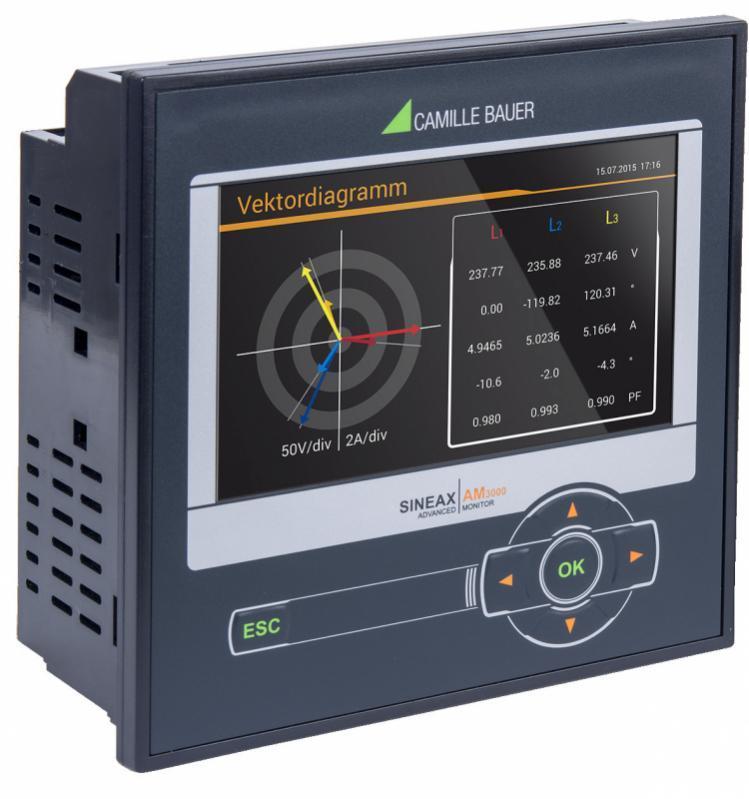 SINEAX AM3000 - Appareil compact pour la mesure et surveillance dans les réseaux à courant fort.