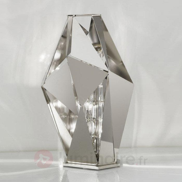 Lampe à poser design décorative CrystalRock acier - Lampes à poser designs