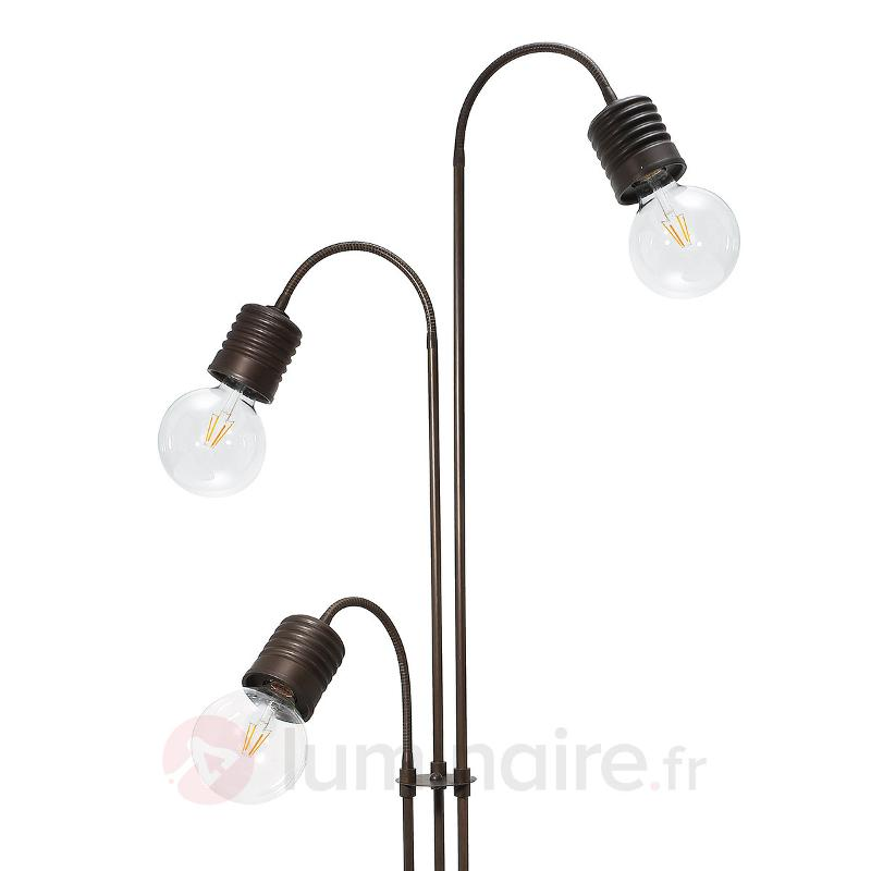Lampadaire original Orti à 3 lampes - Lampadaires rustiques