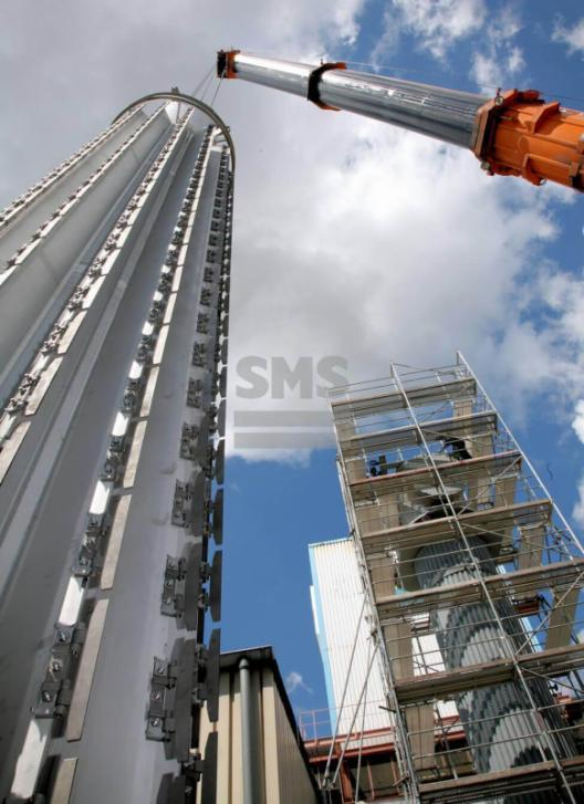 Secador Vertical de Película Fina - Secador de Película Fina - En un cuerpo cilíndrico, verticalmente posicionado