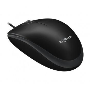 Mysz komputerowa od Logitech - Logitech Mysz 910-003357 B100 czarny