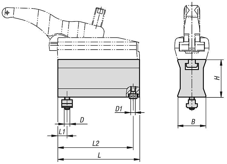 Réhausse pour bride de serrage - Crampons, mors de serrage, vis et écrous de serrage