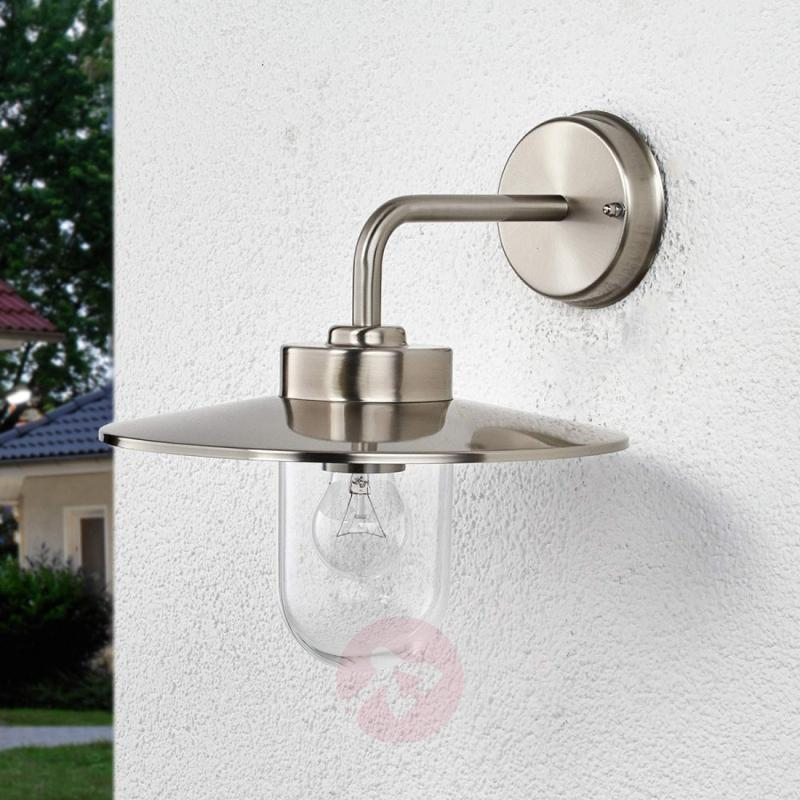 Elegant outdoor wall lamp Joscha - stainless-steel-outdoor-wall-lights