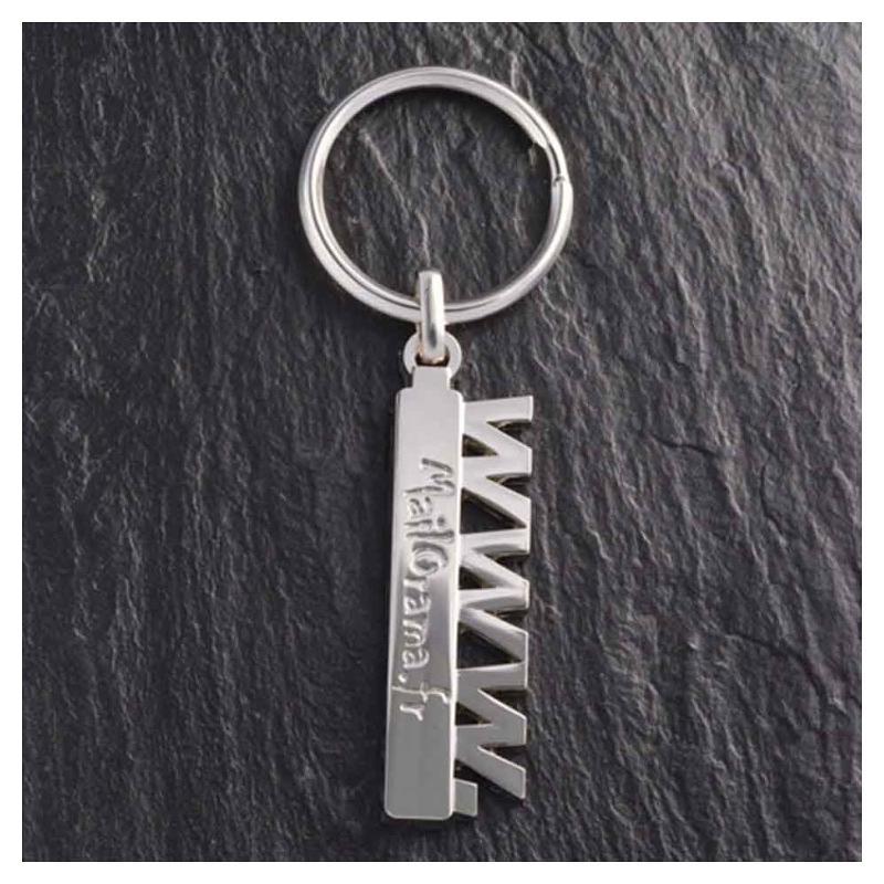 Porte-clés ZAMAC gravure en creux - Porte-clés métal