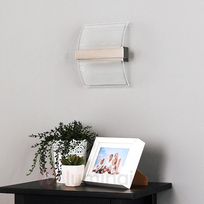 Applique en verre courbée Dina - avec interrupteur - Appliques LED