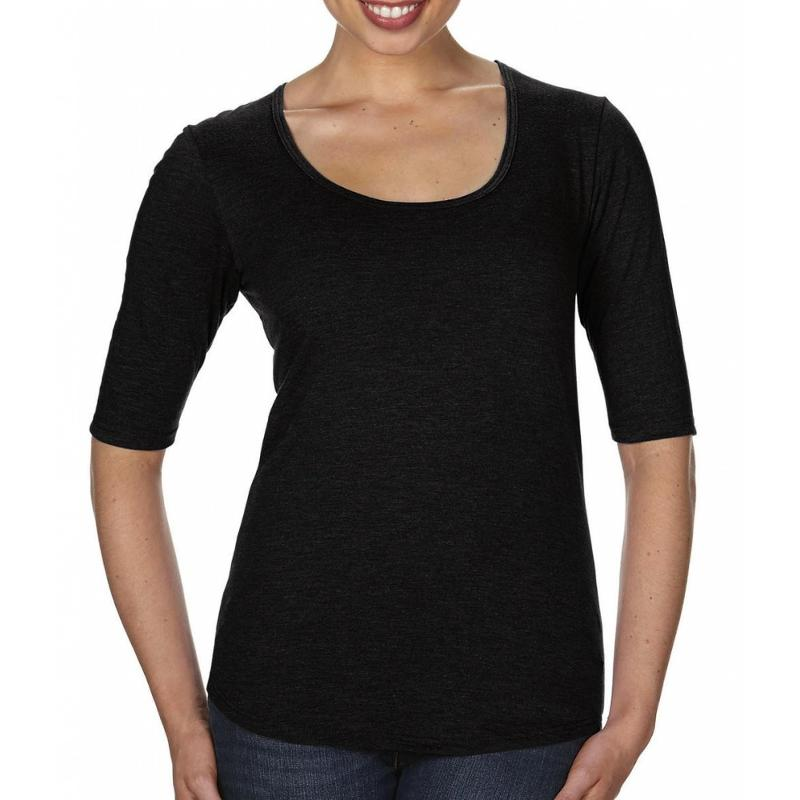 Tee-shirt femme Tri-Blend manches 1/2 - Manches courtes