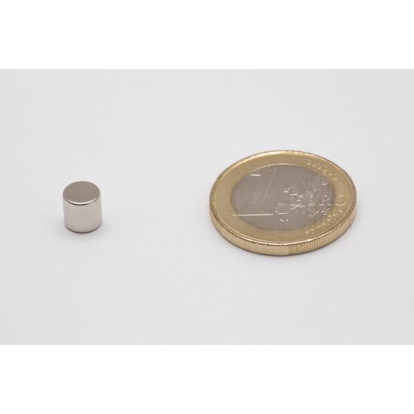 Neodymium disc magnet 6x6mm, N45, Ni-Cu-Ni, Nickel coated - Disc