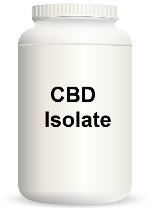 CBD ISOLAT 99%, 1 Kilogramm - Cannabidiol Kristalle- Isolat